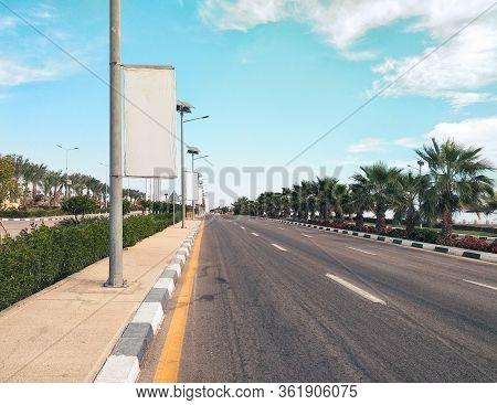 Empty Road In Sharm El Sheikh South Sinai Egypt