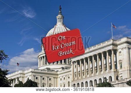 Gourmet  Ice Cream Break For Nancy And Congress.