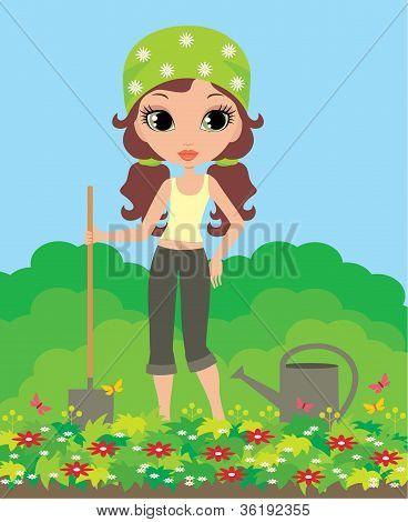 Girl The Gardener
