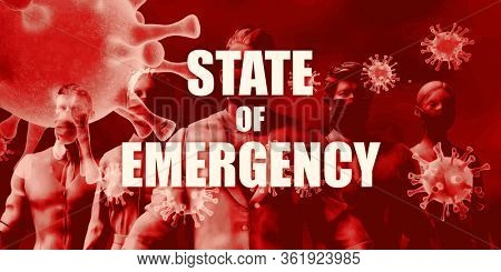 State of Emergency and Crisis Management Restrictions in Fight Against Covid-19 3D Render