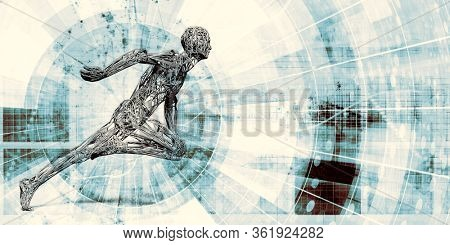 Healthcare Technology and Medical Scan of a Body Diagnosis 3D Render