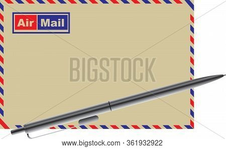 Pen For Writing And Envelope For Airmail
