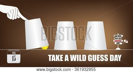 Post Card For Event April Day Take  A Wild Guess  Day