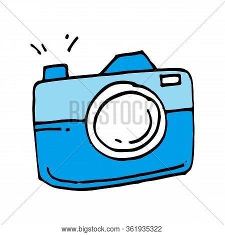 Photo Camera Icon, Photo Camera Icon Eps10, Illustration Vector Design, Easy To Edit, Camera Cartoon