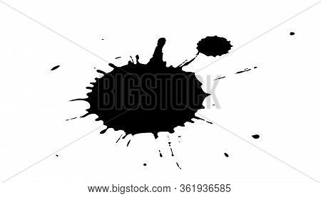 Black Ink Splashes. Royalty High-quality Free Best Stock Photo Image Of Black Blots And Ink Splashes