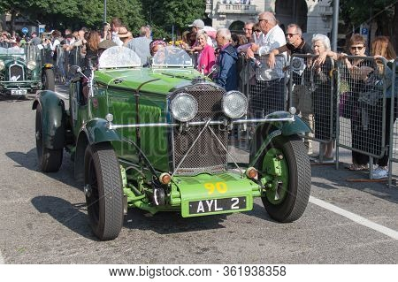 Brescia, Italy - May 19 2018: Talbot-lago 105 Broolands Speed Model 1934 Is An Old Racing Car In Ral