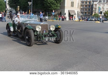 Brescia, Italy - May 19 2018: Invicta S 1933 Is An Old Racing Car In Rally Mille Miglia 2018, Live S