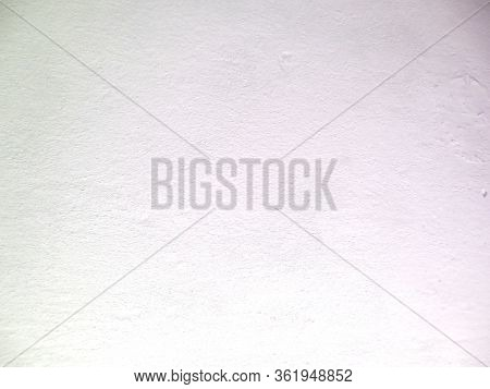 Abstract White Background. White Paint On An Uneven Surface. White Rough Grunge Texture With Gradien