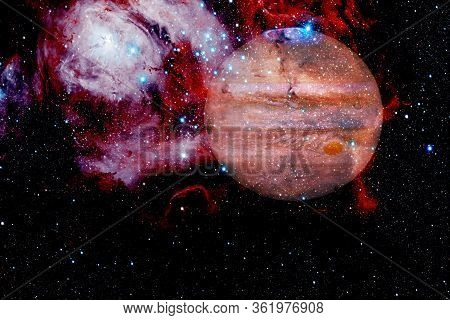Jupiter. Awesome Quality Planets Of Solar System. Elements Of This Image Furnished By Nasa