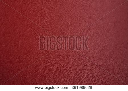 Red Leather Texture Closeup Grunge Background. Country Western Background, Cowboy Rawhide Design, Ab