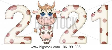 Chinese New Year. 2021 New Year. 2021 Design. Chinese Horoscope Metal Ox With 2021.