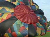 Nice and colorful balloons at the festival. poster