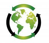 World globe vector illustration on white background poster