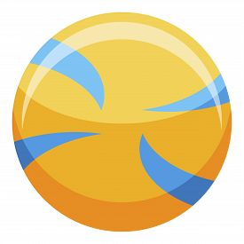 Volleyball Ball Icon. Isometric Of Volleyball Ball Vector Icon For Web Design Isolated On White Back