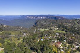 Aerial View Of The Blue Mountains In New South Wales Australia