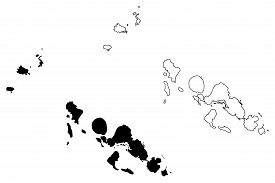 Western Province (provinces Of Solomon Islands, Solomon Islands, Island) Map Vector Illustration, Sc