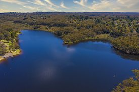 Wentworth Falls Lake In The Blue Mountains In Australia