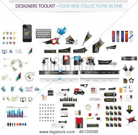 Designers toolkit - Four web collections in one