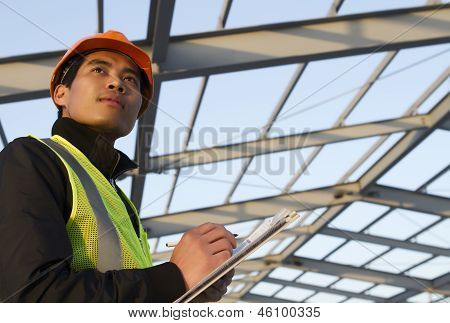 Engineer Construction Under New Building Checking Plan