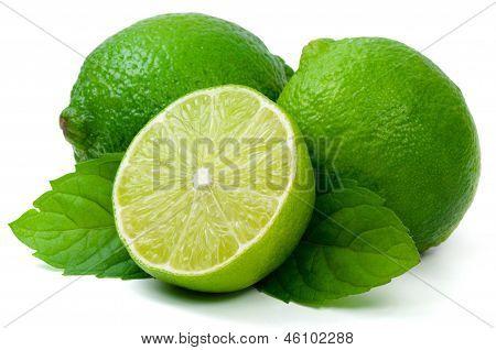 Juicy green lime