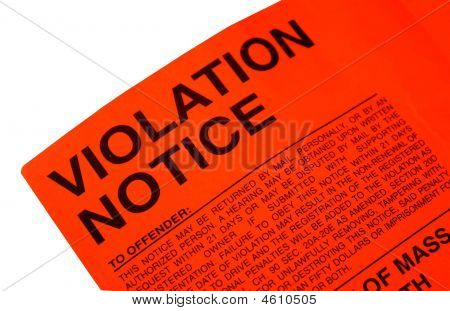 Violation Parking Ticket