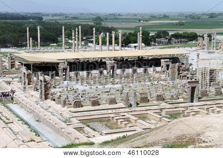 Ansicht von Persepolis vom Hügel