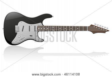 Electric Guitar Vector Illustration