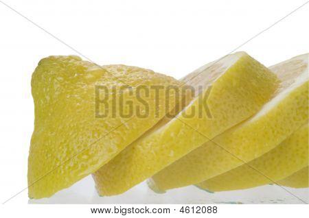 Sliced Lemon Macro