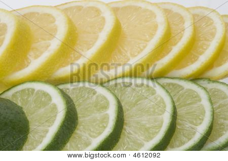 Lime With Lemon Slices