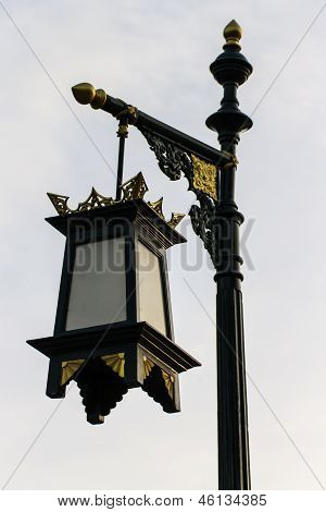 Street Lamp Pole In Traditional Lanna Style