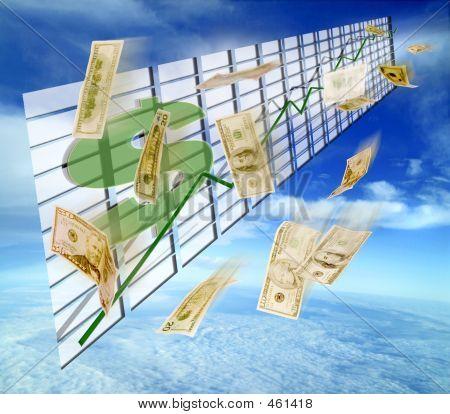 Prosperity Shown In Graph W/ Abundance Of Cash