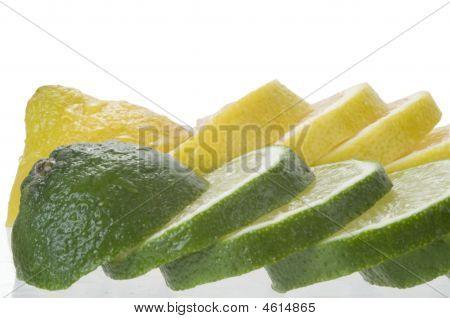 Lime With Lemon Slices Macro