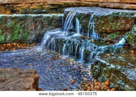 Beautiful Cascading Waterfall In High Dynamic Range