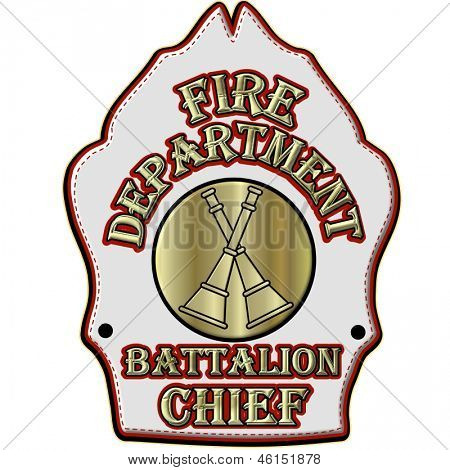 Fire Department Battalion Chief Helmet Shield