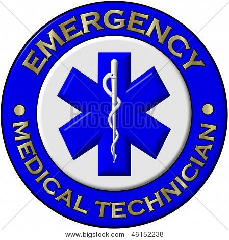 Emergency Medical Technician Collar Brass