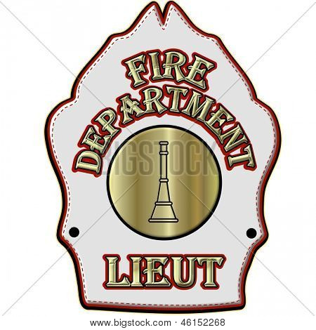 Fire Department Lieutenant Helmet Shield