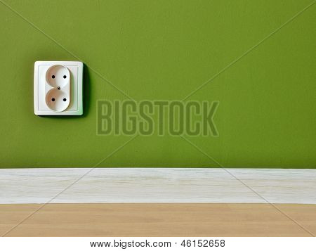 Outlet On Wall Background