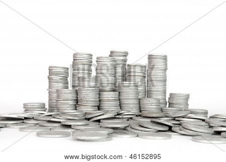Stack Silver Coin, Success Or Crisis