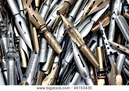 Group of drawing nibs