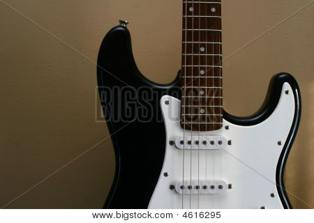 Guitar On Solid Background