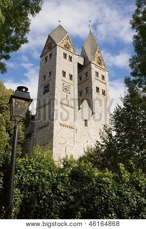 The Romanesque Church In Dietkirchen An Der Lahn, Germany