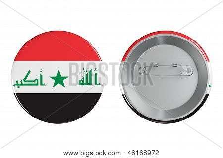 Badges With Iraq Flag