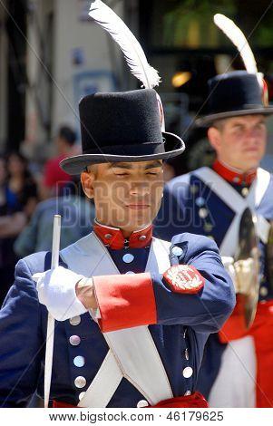 Men in soldier costume
