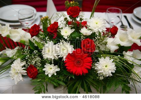 Flowers In The Table