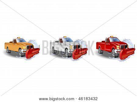 Three Truck Snowplow