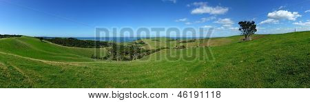 Panoramic landscape view