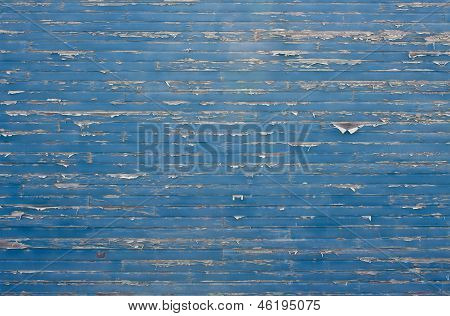 Peeling Paint Blue Wall