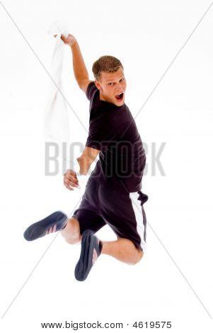 Jump - Man In Gym Clothing