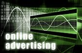 Online Advertising on the Web Creative Concept poster
