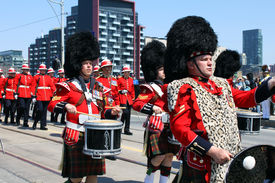Canadian Marching Band in the Battle of York Parade